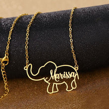 Load image into Gallery viewer, ELEPHANT NAME NECKLACE