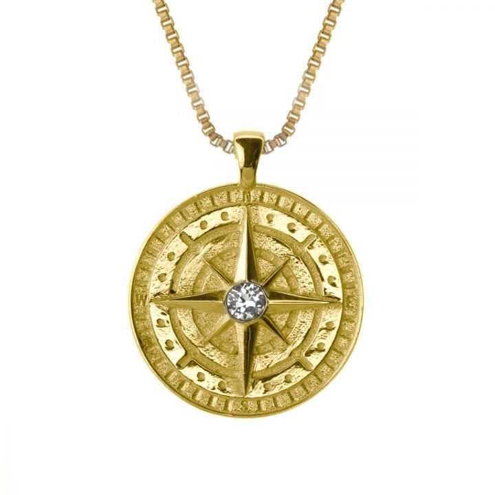 COMPASS WOMEN'S NAME NECKLACE