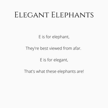 Load image into Gallery viewer, Book - Elegant Elephants