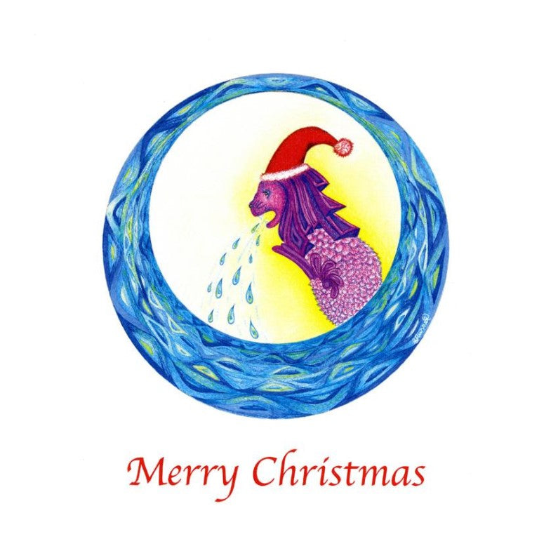 Greeting Card - Singapore Christmas - Merlion