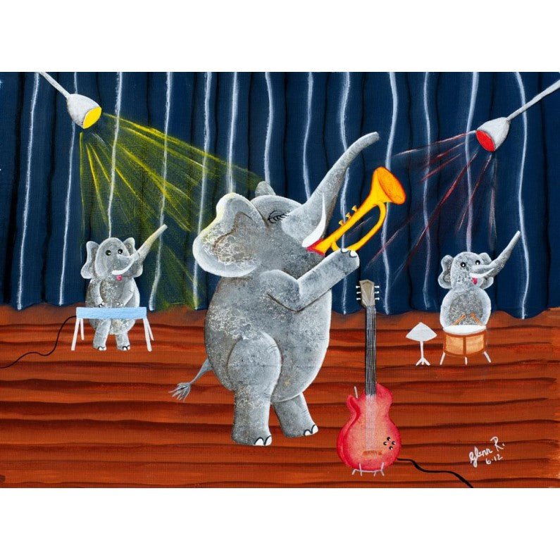 Print - Secret Life of Elephants - All That Jazz