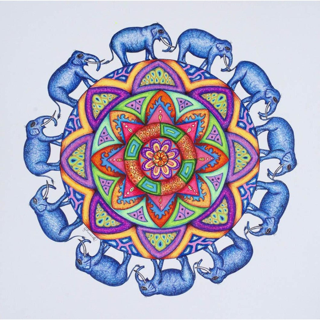 Drawing - Mandala - Elephant 1