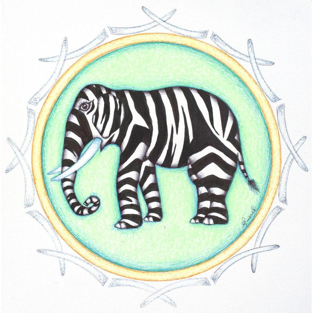 Drawing - Mandala - Elephant 2