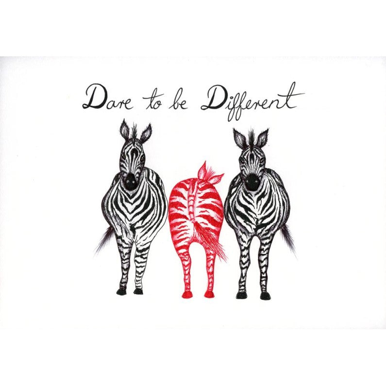 Print - Quotes - Dare to Be Different - Zebra