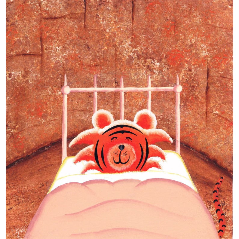 Print - Tigers Dream Too - Asleep In Bed