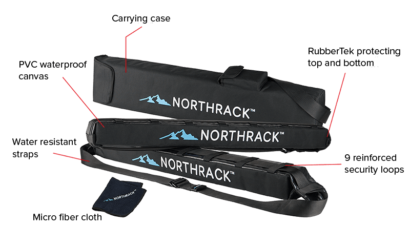 Product specs for Northrack roof rack