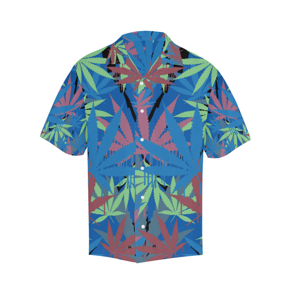 Blue Leaf Hawaiian Shirt