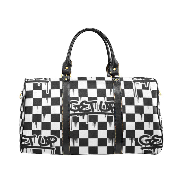 Checker Drip Small Travel Bag