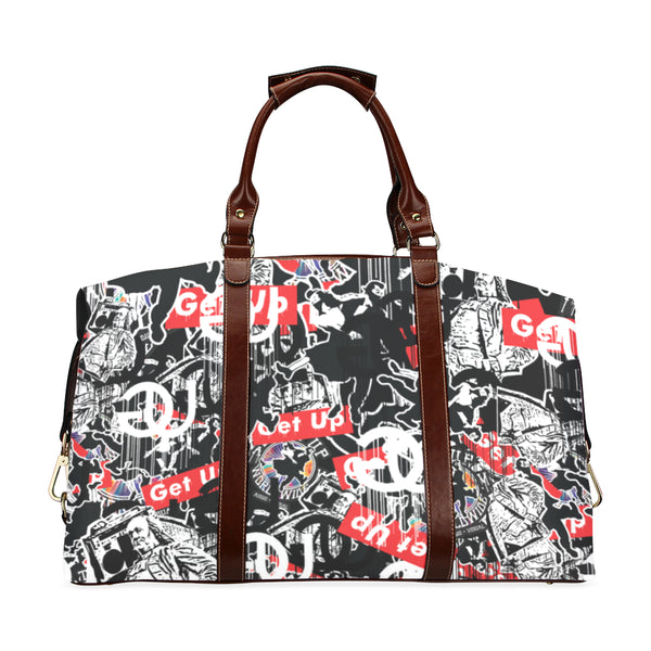 Sticker Print Travel Bag