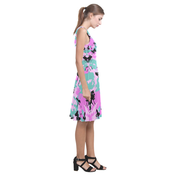 Teal/Pink Camo Drip Sundress