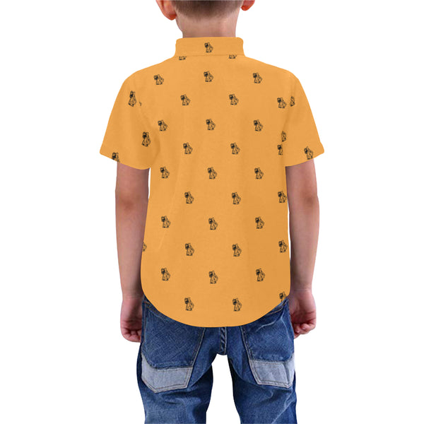 Ben Print Orange Kids Shirt