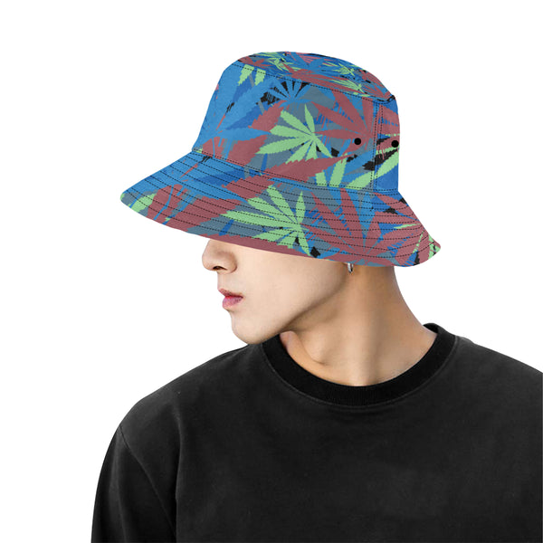 Blue Leaf Bucket Hat