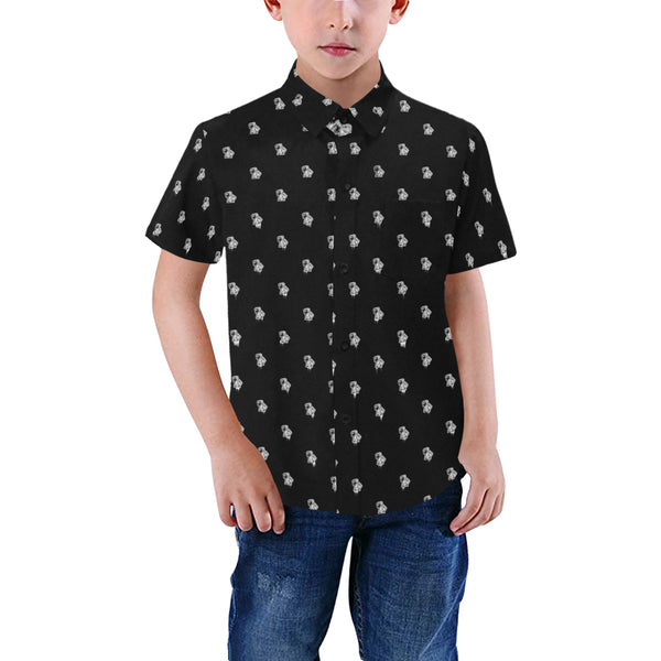 BenJammin Print Button Down Short Sleeve Kids Shirt