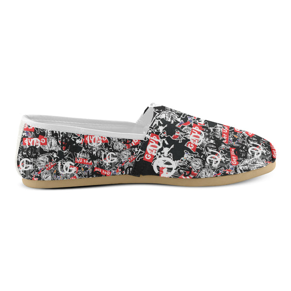 Sticker Print Womens Casual Shoe