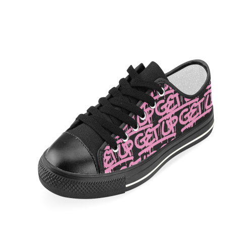 Pink Tag Canvas Sneakers
