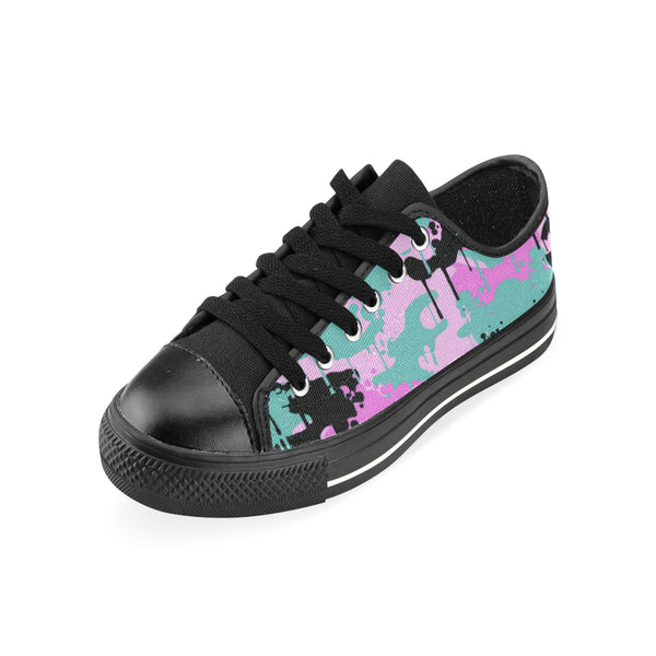 Teal/Pink Camo Drip Low-top Sneaker