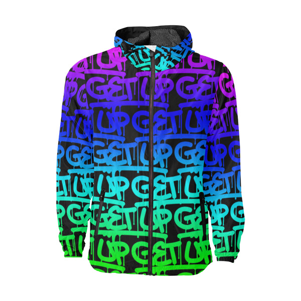 Rainbow Tags Windbreaker