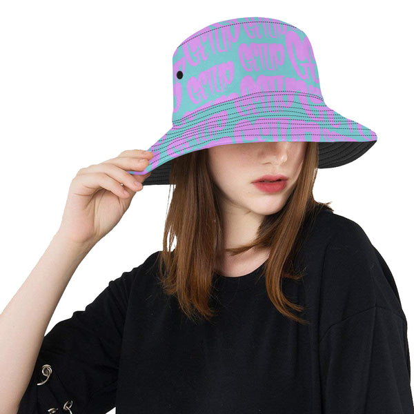 Teal Pink Ladies Bucket Hat