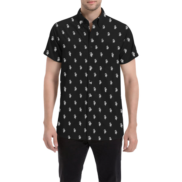 BenJammin Print Button Down Short Sleeve Shirt