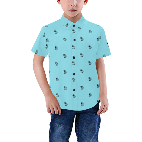 BenJammin Print Blue Kids Shirt