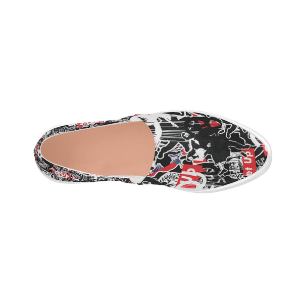 Sticker Print Womens Slip-on Shoes
