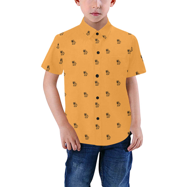 BenJammin Print Orange Kids Shirt