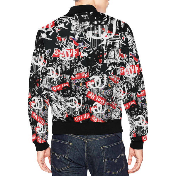 Sticker Print Bomber Jacket