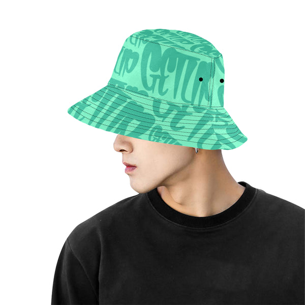 Teal Tags Bucket Hat