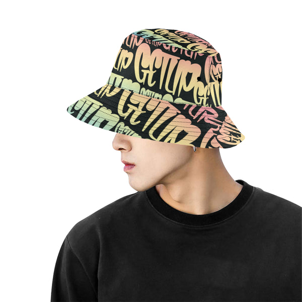 Gradient Tags Bucket Hat