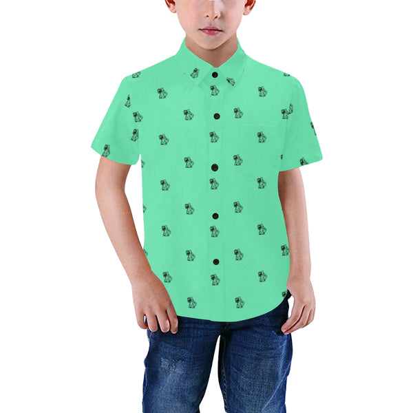 BenJammin Print Green Kids Shirt