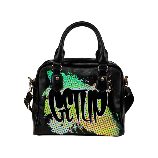 Abstract Shoulder Bag