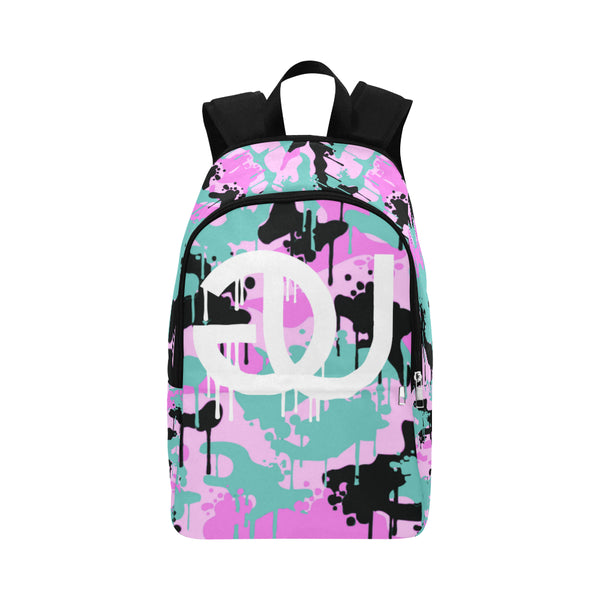 Teal/Pink Camo Drip Backpack
