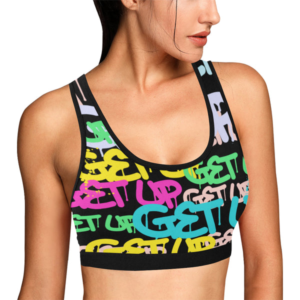 Color Tag Sports Bra