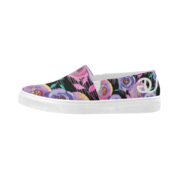 Flower Drip Slip-On Ladies Shoes