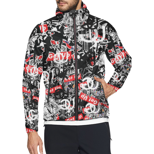 Sticker Print Windbreaker
