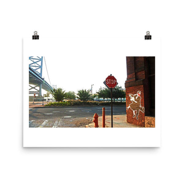 Dancing By The Bridge Poster Print