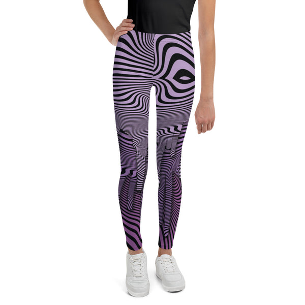 Wavy Purple Youth Legging