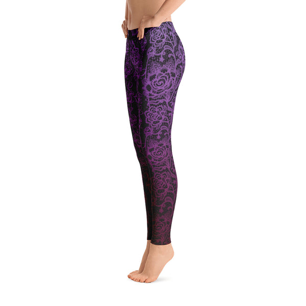 Purple Lace Legging