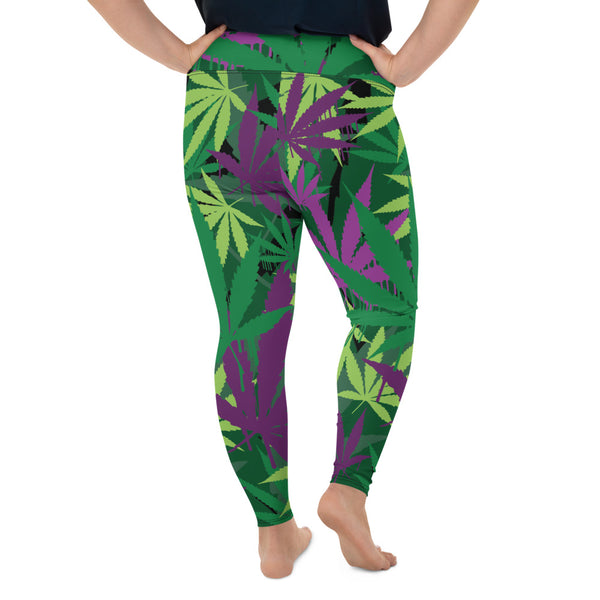 Green Leaf Curvy Legging