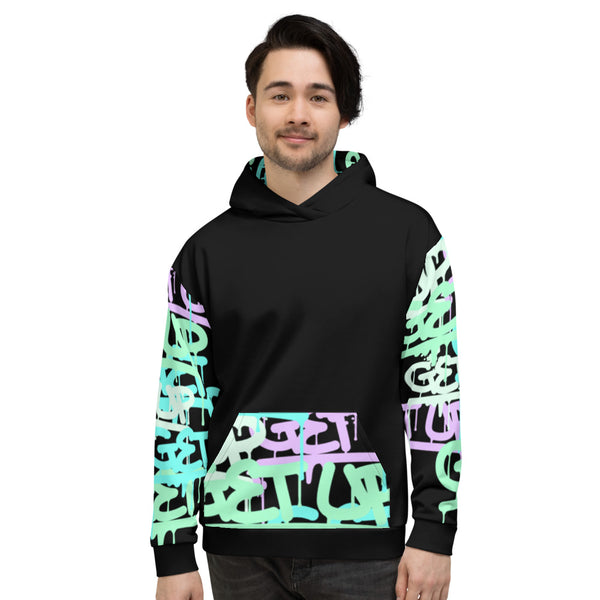 Tag Sleeve Print 2 Unisex Hooded Sweatshirt