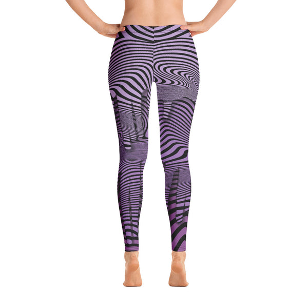 Purple Wavy Leggings