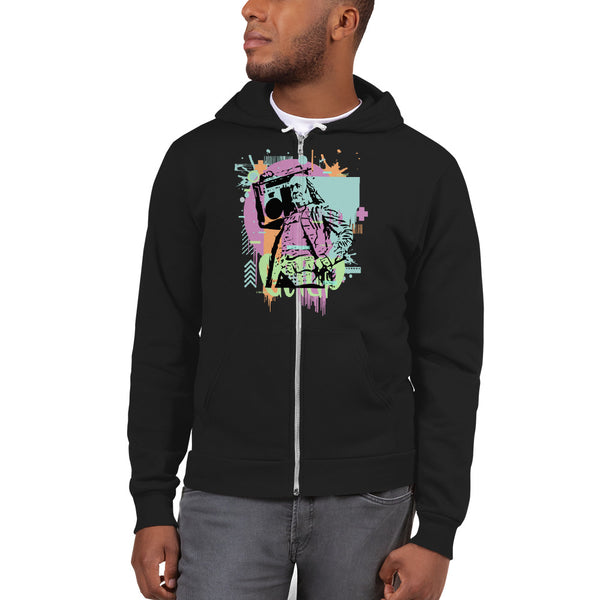BenJammin Abstract Unisex Zip-Up Hooded Sweatshirt