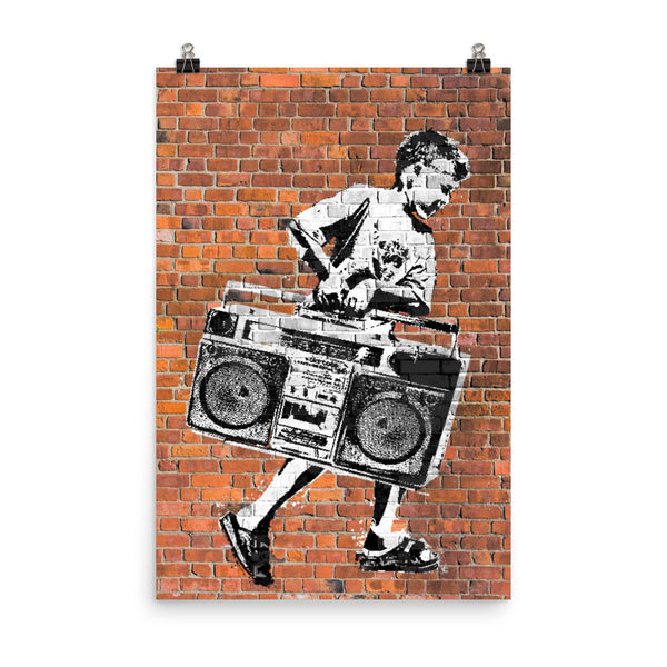 Boombox Boy Poster