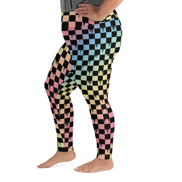 Checker Rainbow Gradient Curvy Legging