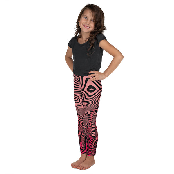 Wavy Pink Kid's Legging
