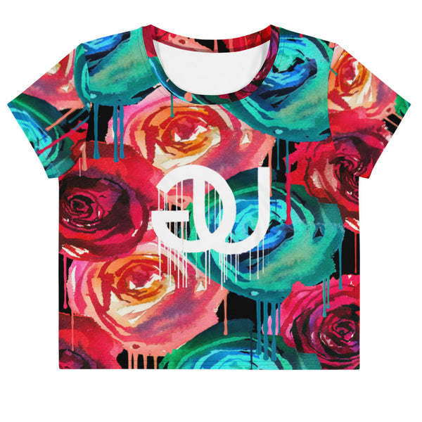 Rose Drip Crop Top