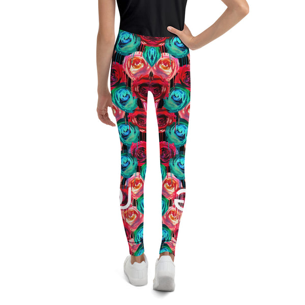Rose Drip Youth Legging