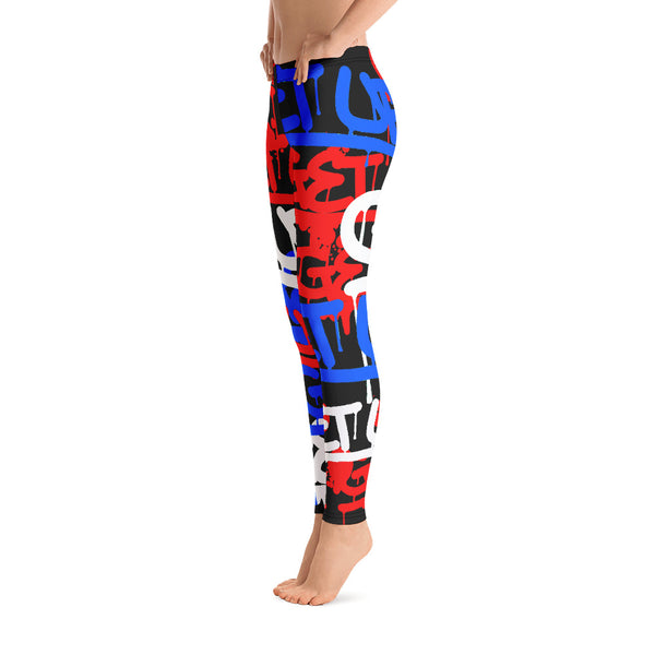 Red White Blue Tags Legging