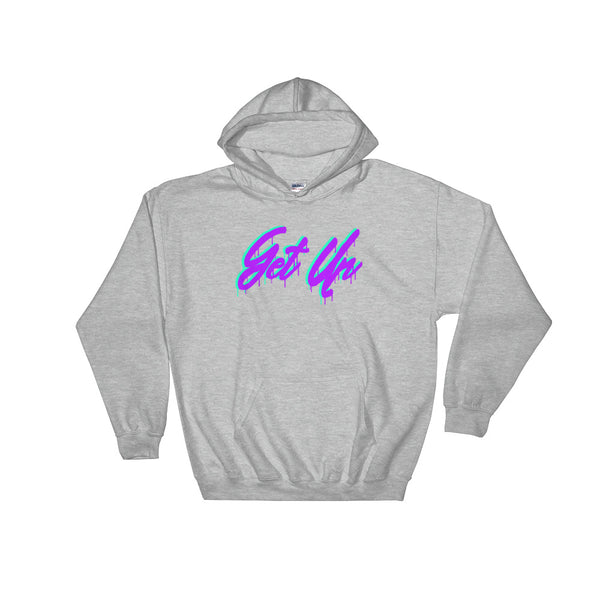 Purple Script Logo Hooded Sweatshirt