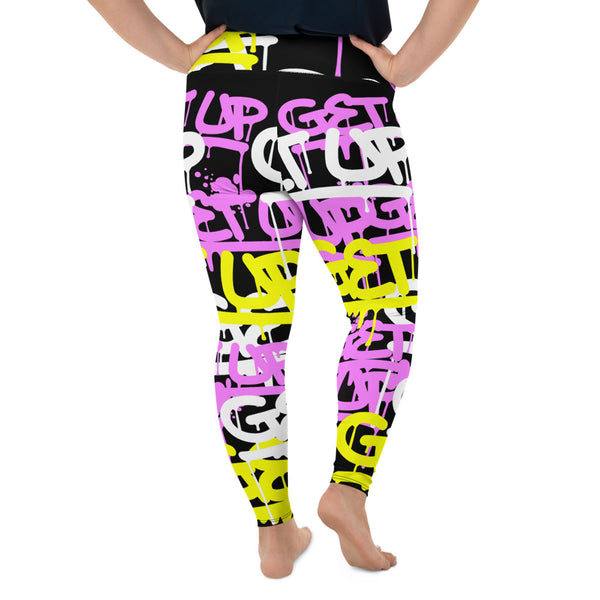 Pink Yellow Tags Curvy Legging